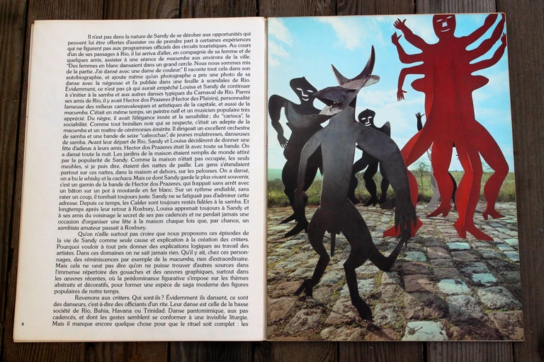 Mid-Century Modern Alexander Calder 1975 Lithographs