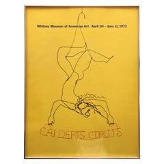 """Alexander Calder """"Circus"""" 1972 Exhibition Poster"""