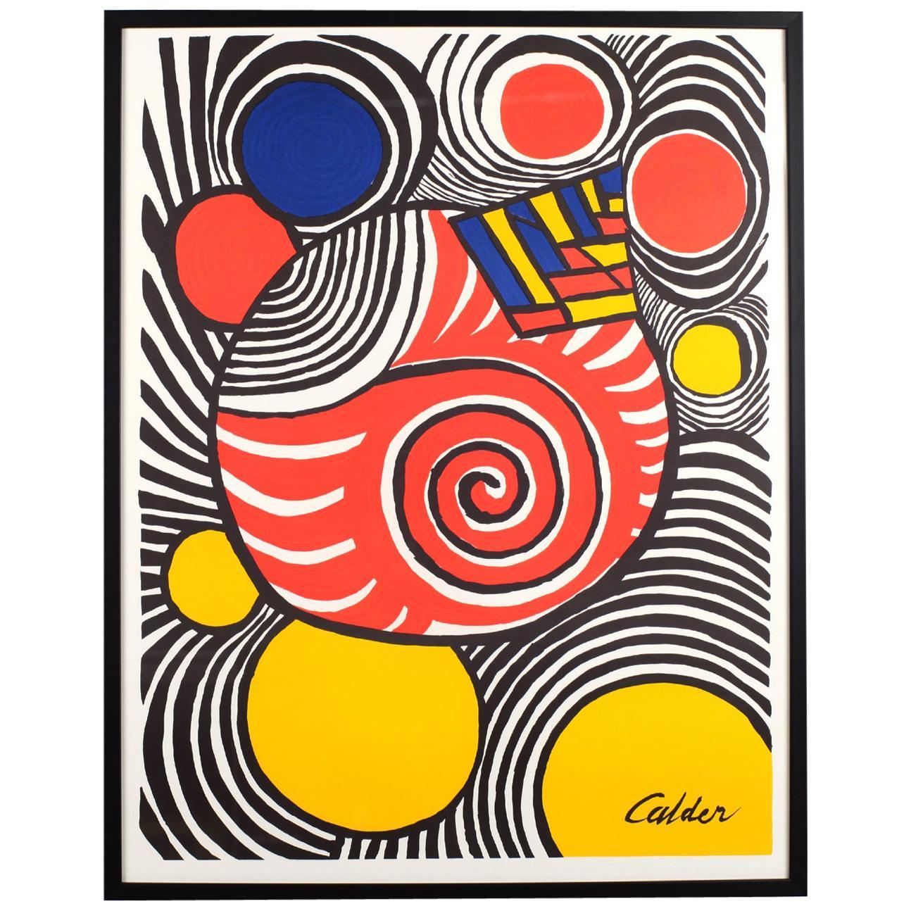 Alexander Calder Color Clown Lithograph