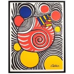 Alexander Calder Color Clown Lithograph