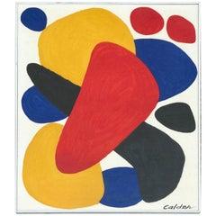 """Alexander Calder Color Lithograph """"Boomerang"""""""