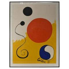 "Alexander Calder Limited Edition ""Yin & Yang"" 1971 Signed in Print 475/500"