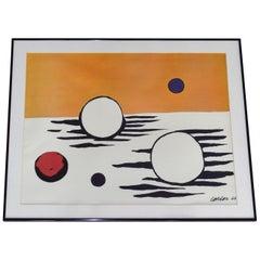 Alexander Calder Lithograph, Les Astres 'The Stars' 1966