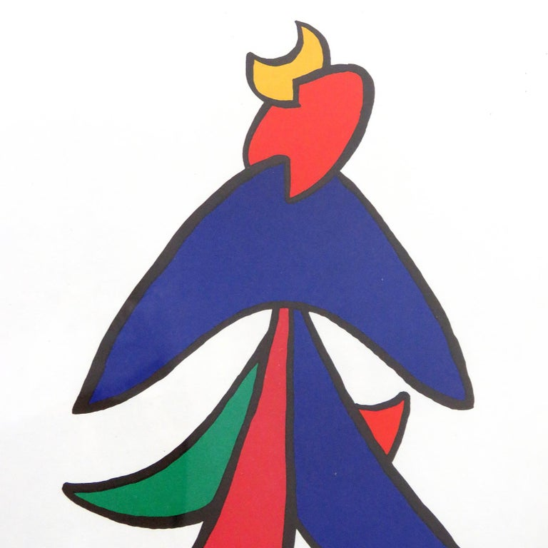 Alexander Calder Lithography, 1963 In Good Condition For Sale In Los Angeles, CA