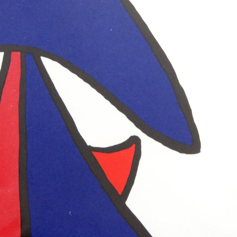 Mid-20th Century Alexander Calder Lithography, 1963 For Sale