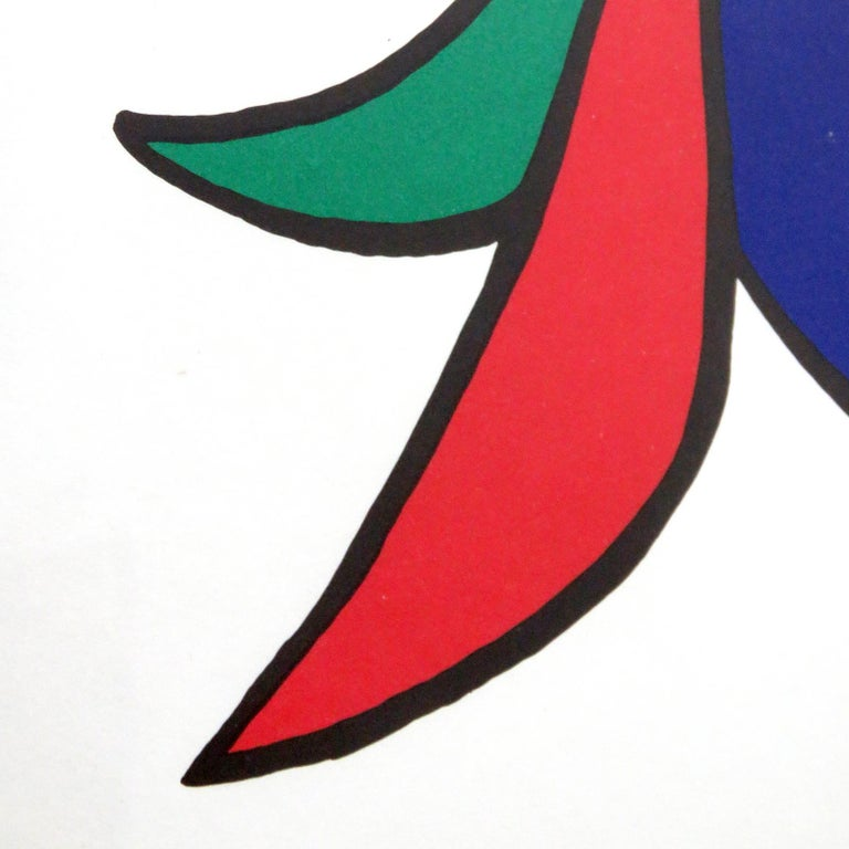 Paper Alexander Calder Lithography, 1963 For Sale