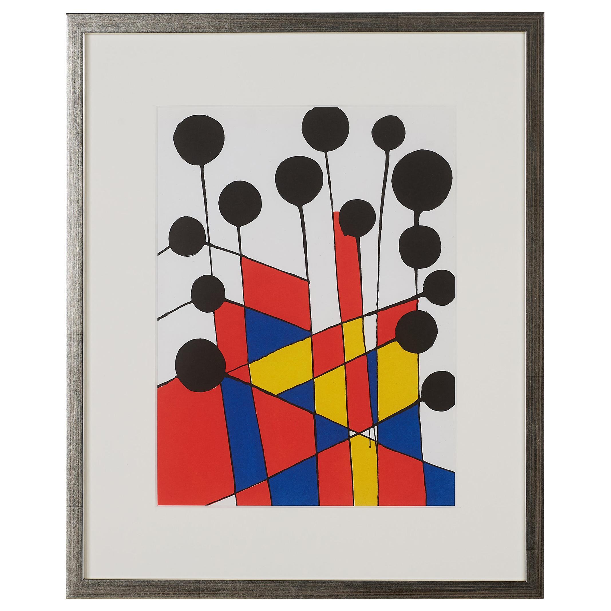 Alexander Calder Original Color lithograph '1971', Derrière le Miroir no. 37