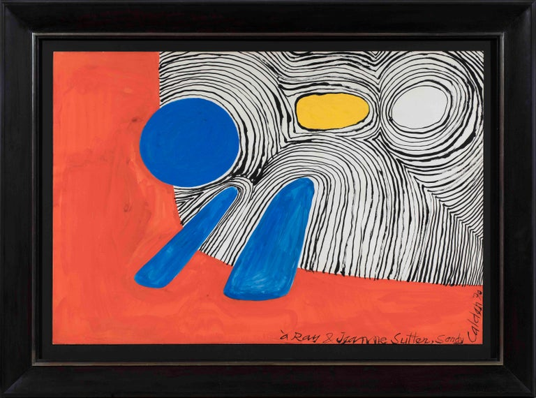 Alexander Calder Abstract Painting - Composition, ALEXANDER CALDER - Gouache, Contemporary, Abstract