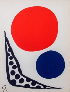 """Composition"" an Original Color Lithograph signed by Alexander Calder"