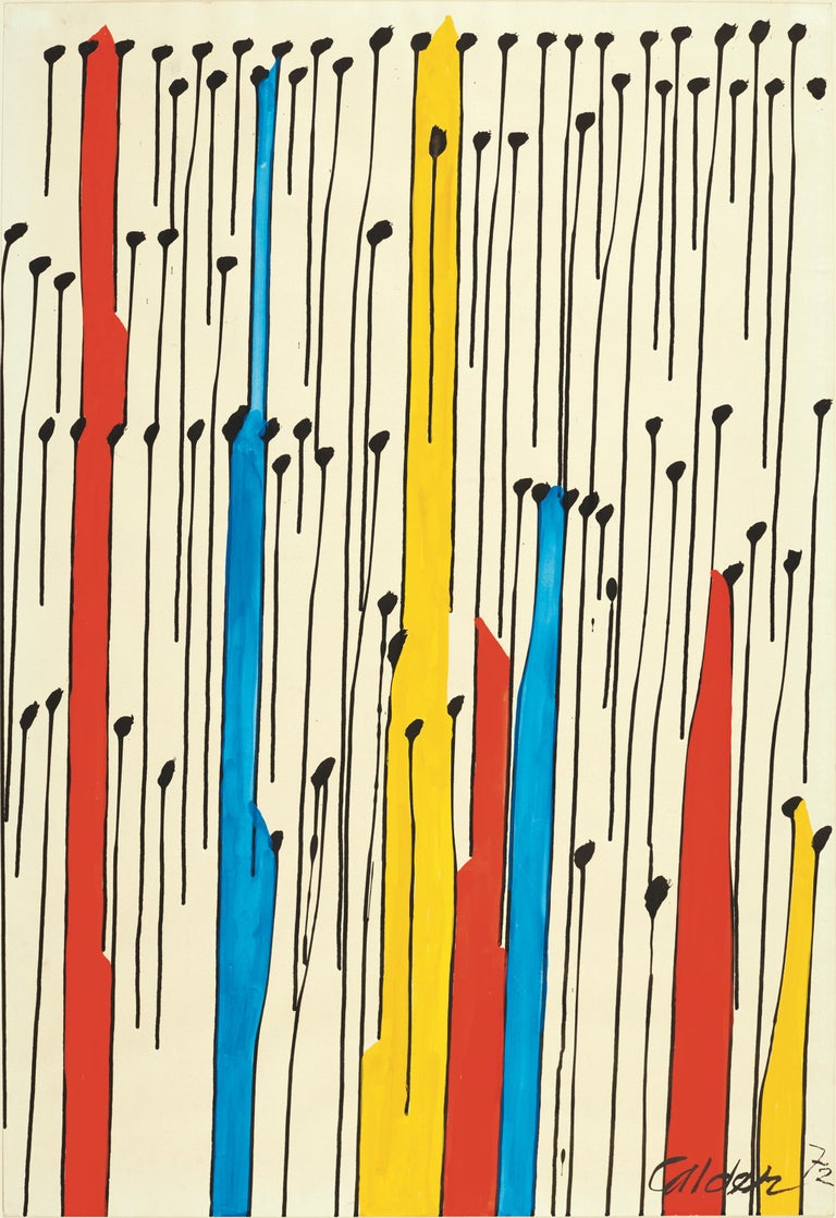 Alexander Calder Abstract Drawing - The Forest