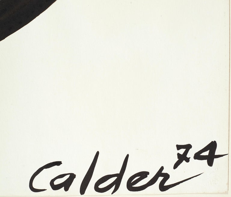 The Oval Spiral - Painting by Alexander Calder
