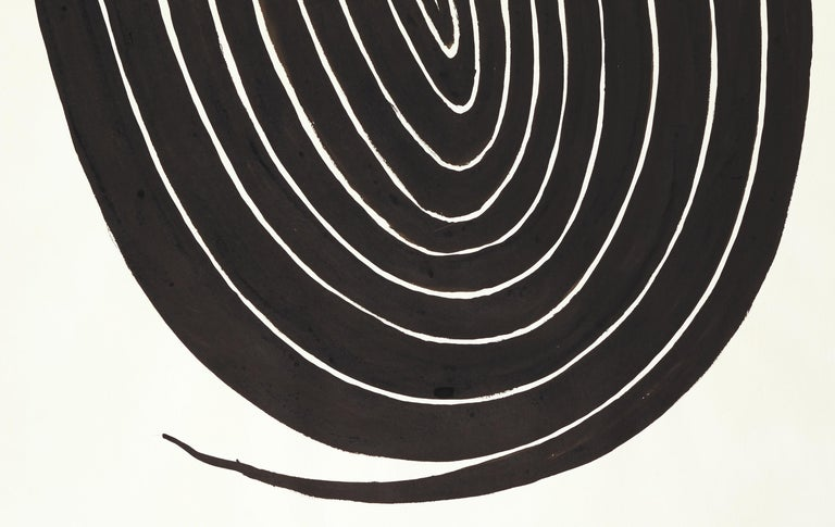 The Oval Spiral - Post-War Painting by Alexander Calder