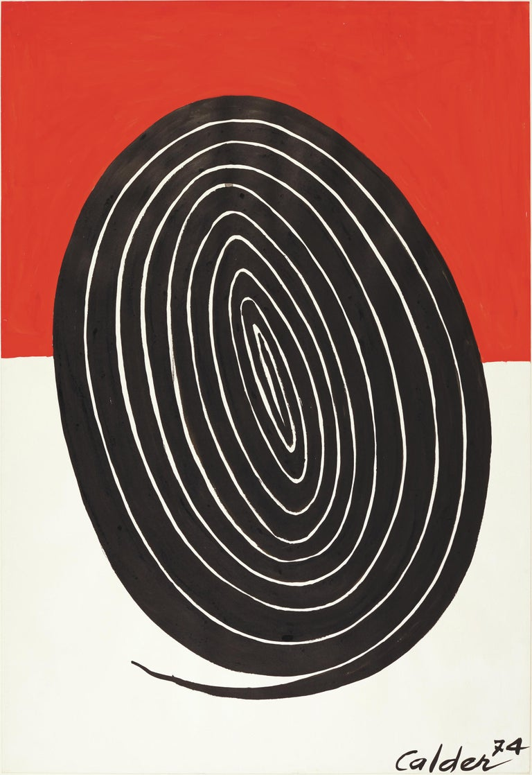 Alexander Calder Abstract Painting - The Oval Spiral