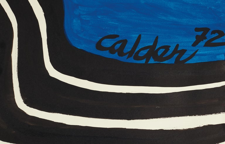 Zigzag Sun and Crags - Painting by Alexander Calder