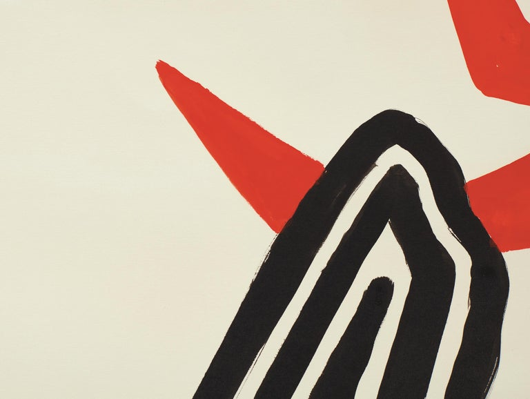 Zigzag Sun and Crags - Post-War Painting by Alexander Calder