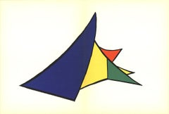 1963 Alexander Calder 'Colored Wedge Structure' Modernism Lithograph