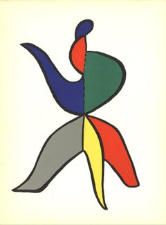 1963 Alexander Calder 'DLM No. 141 Page 15' Surrealism Multicolor Lithograph