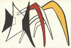 1963 Alexander Calder 'DLM No. 141 Pages 12,13' Surrealism Lithograph