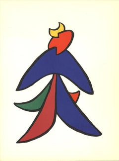 1963 Alexander Calder 'Intersecting Colored Shapes' Contemporary Blue,Green,Red,