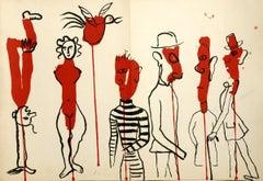 1966 Alexander Calder 'Derriere le Miroir No. 156' Surrealism France Lithograph