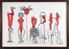 1966 Alexander Calder 'Derriere le Miroir No. 156' Surrealism Lithograph Framed