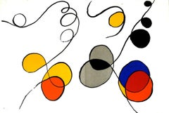 1968 Alexander Calder 'Derriere le Miroir No. 173, pages 12-13' Surrealism