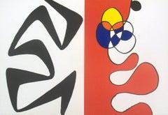 1968 Alexander Calder 'Derriere le Miroir no.173 Double Page' Surrealism