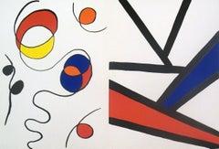 1968 Alexander Calder 'Derriere le Miroir no.173 page' Surrealism Multicolor