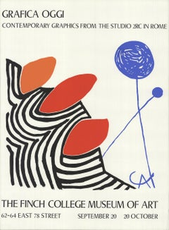 1970 Alexander Calder 'Contemporary Graphics from the Studio in Rome' Surrealism