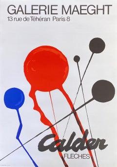 1970s Alexander Calder exhibition poster (Alexander Calder prints)