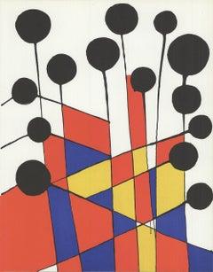 1971 Alexander Calder 'Crosshatch' Surrealism Lithograph