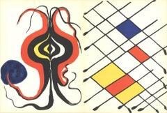 1971 Alexander Calder 'Derriere le Miroir No. 156' Contemporary Black & White,Ye