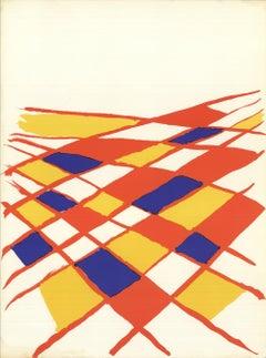 1971 Alexander Calder 'DLM no. 190 page 4' Surrealism Lithograph
