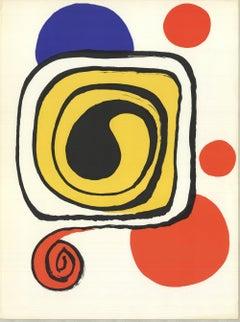 1971 Alexander Calder 'DLM no. 190 Page 9' Surrealism Lithograph