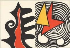 1973 Alexander Calder 'Retour au mobile (from DLM 201)' Surrealism Lithograph