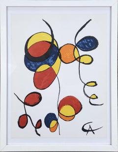 1974 Alexander Calder 'Spirales' Surrealism Lithograph Framed