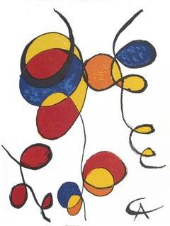 1974 Alexander Calder 'Spirales' Surrealism Multicolor France Lithograph