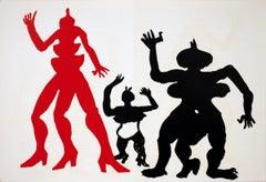 1975 Alexander Calder 'DLM No. 212, pgs. 12-13' Surrealism Black,Red Lithograph