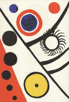 1976 Alexander Calder 'DLM no. 221 Page 12,13' Surrealism Lithograph