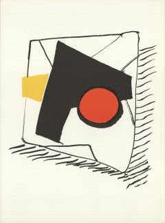 1976 Alexander Calder 'DLM no. 221 Page 16' Surrealism Lithograph