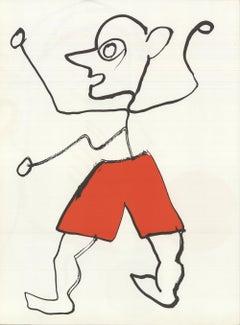 1976 Alexander Calder 'DLM no. 221 Page 3' Surrealism Lithograph