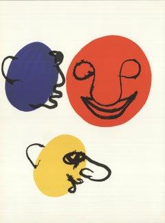 1976 Alexander Calder 'DLM no. 221 Page 9' Surrealism Lithograph