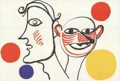 1976 Alexander Calder 'DLM no. 221 pages 4,5' Surrealism Lithograph