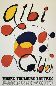 Abstract Composition - Poster - Exhibition in Albi 1971
