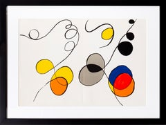"""Abstract IV from """"Derrier le Miroir"""" by Alexander Calder 1968"""