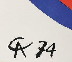 1970s Alexander Calder lithograph (vintage Alexander Calder prints)