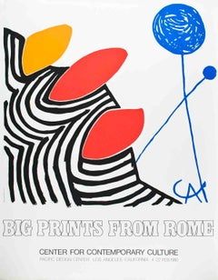 "Alexander Calder-Big Prints from Rome-35"" x 27.5""-Serigraph-1980-Surrealism"