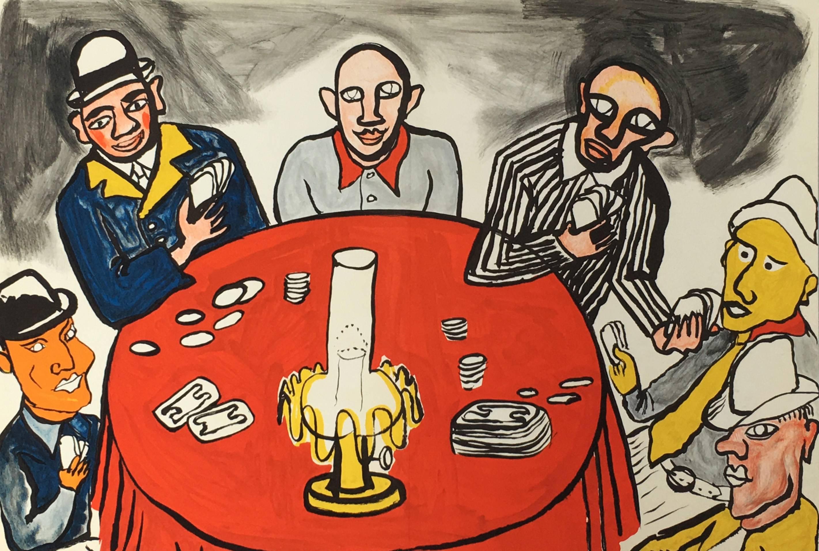 Alexander Calder Card Players lithograph (Derriere Le Miroir)