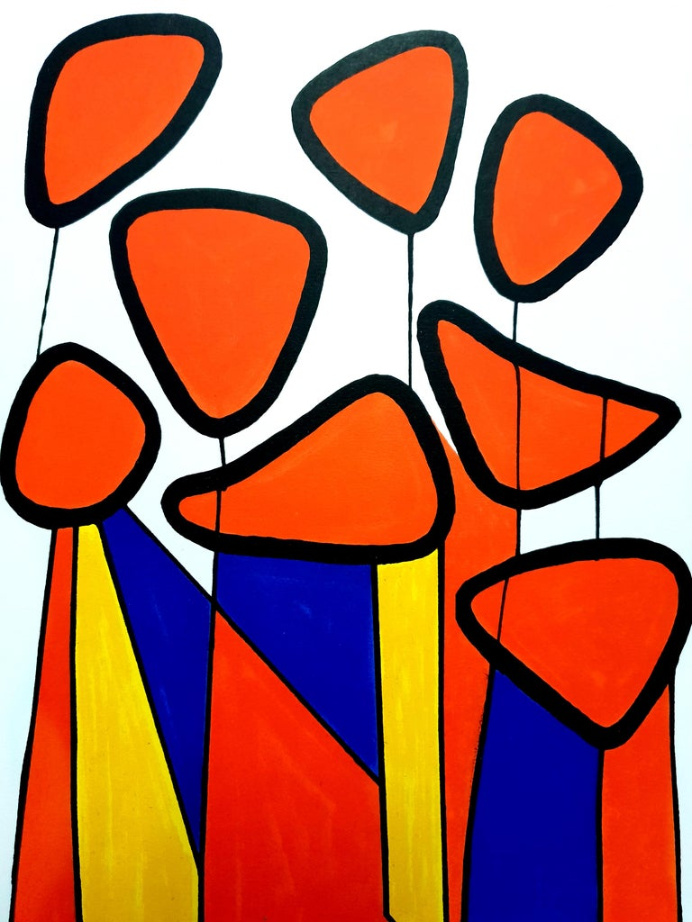 Alexander Calder - Original Lithograph - Composition Colorful Abstraction 1972 XXe Siecle Dimensions: 32 x 24 Edition: G. di San Lazzaro.  Alexander Calder (1898 - 1976)  The American artist Alexander Calder was born in Philadelphia in 1898. He