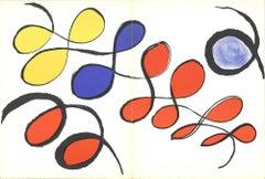 """Alexander Calder-DLM No. 141 Pages 14,15-15"""" x 22""""-Lithograph-1963-Surrealism"""